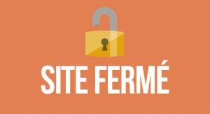 Erreur : Site fermé